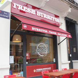 façade fresh burritos lille